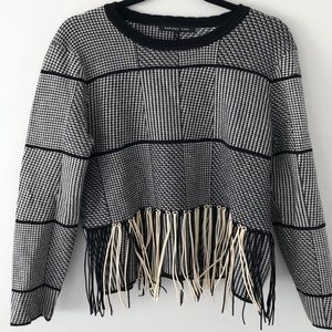 Endless Rose Sweater with Fringe detail